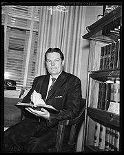 Jaggers seated in his office, 1958
